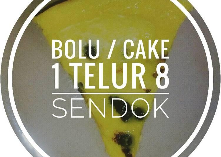 Bolu cake 1 telur 8 sendok no mixer pake magicom