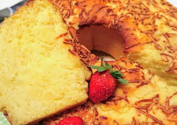 Resep Bolu Jadul Kuning Telur: Resep Bolu Tape Lembut (putih Telur) Oleh Selene Cake