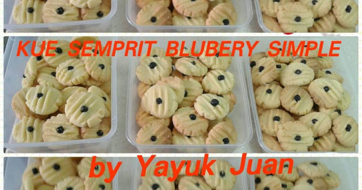 1 resep kue semprit garbu blubery simple enak dan