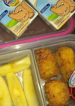 Chicken Nugget wortel keju (Bekal sekolah anak TK)