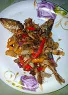 Ikan Asin Japuh Tumis Bawang Cabai