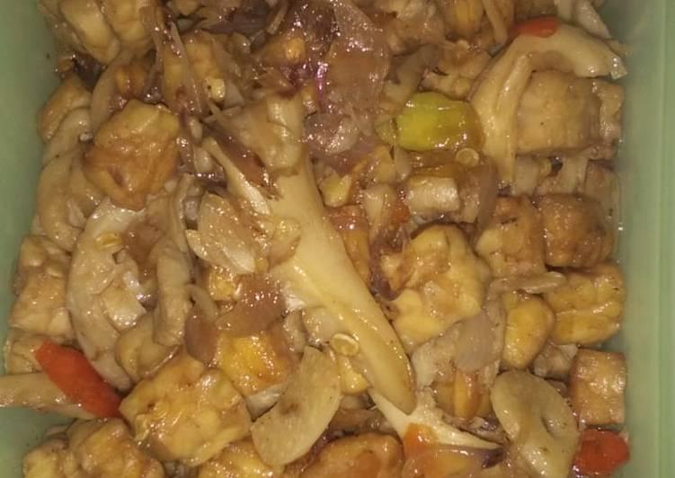Resep Oseng tempe jamur tiram Dari Susi Revaliana Putri