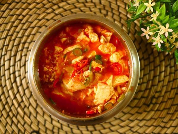 Sundubu JJigae Sup tahuresep asli korea