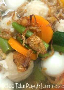 Sup Bakso Telur Puyuh