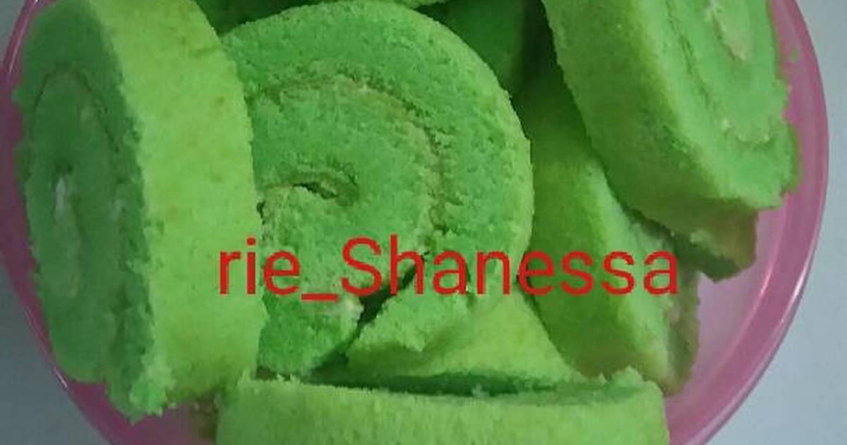 Resep pandan roll cake