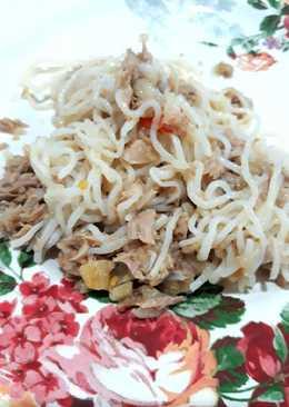 Spaghetti tuna cabe rawit keto