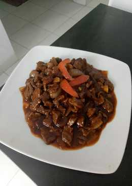 Beef black pepper sauce