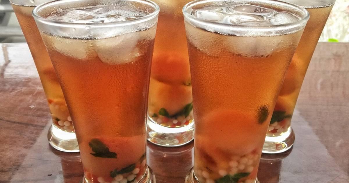Resep Ice Lychee Mint Tea