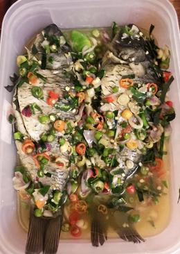 Steam ikan daun jeruk