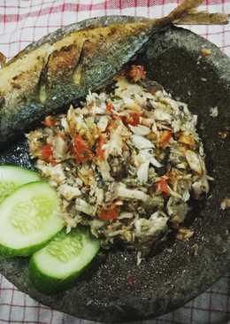 Ikan kembung suwir sambal geprek :)