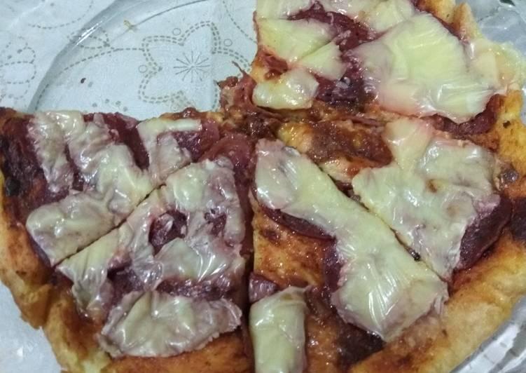 Pizza ala bread pudding (#BikinRamadanBerkesan)
