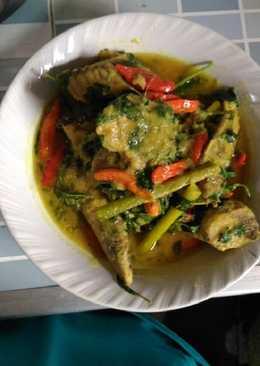 Ikan tongkol kemangi bumbu kuning