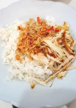 Nasi uduk rice cooker praktis