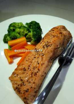 Healthy Salmon Steak (Homemade)