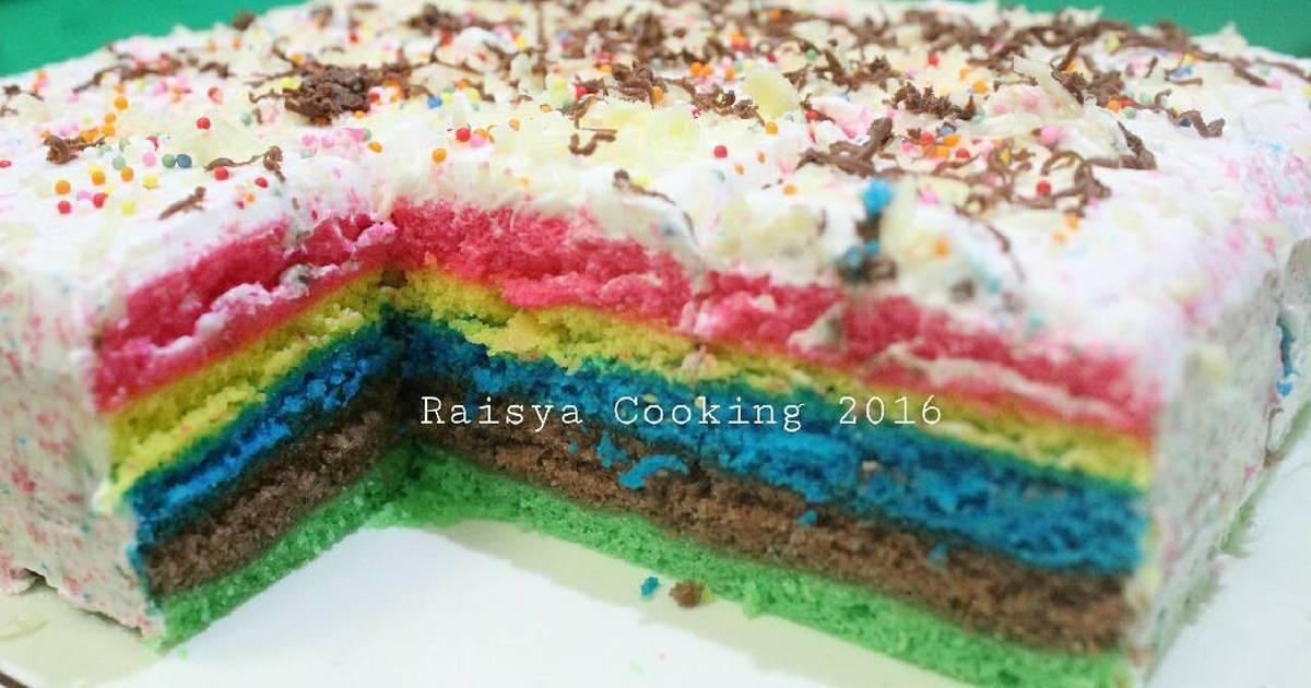 Resep Rainbow Cake Kukus 2 Telur