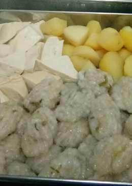 Somay ikan nila + bumbu kacang ala abang2