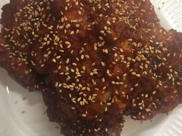 Yangnyeom Tongdak (Korean Spicy Chicken)