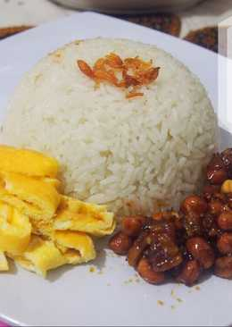 Nasi uduk ricecooker simple enak & wangi