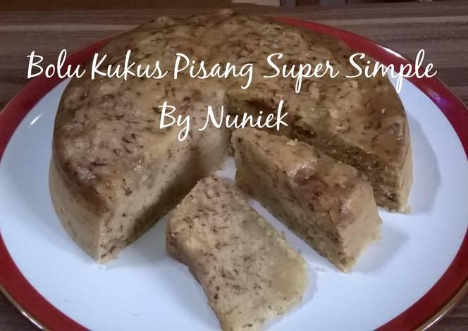 Resep BOLU KUKUS PISANG SUPER SIMPLE (Tanpa Mixer, Tanpa