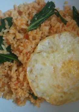 Nasi goreng merah tanpa saos (sehat alami)