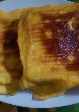 Roti telur manis panggang cheese