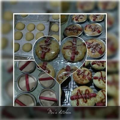 Roti Sosis Lembut (tangzhong method)