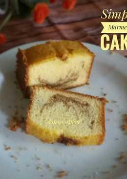 Marmer Cake Simple (3 telur)