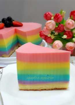 Rainbow Cheese Pudding