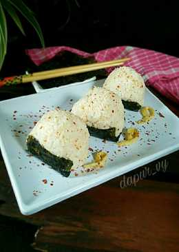 ONIGIRI Simple 5 bahan (Nasi Kepal)