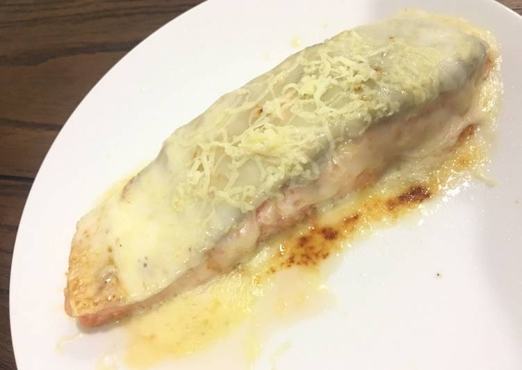Resep Steak salmon chesse Karya Sharon Mssharon