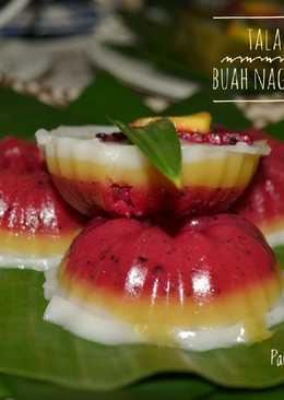 Talam Mocaf Buah Naga dan Mangga #Maree