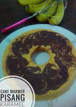 Cake Marmer Pisang Karamel