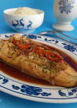 Tim Ikan dengan Nasi Hainan