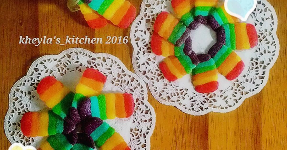 Resep Lidah Kucing Keju Rainbow Ngeju Banget