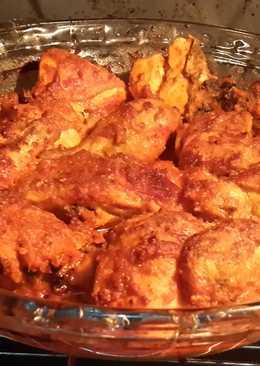Ayam panggang bumbu padang (bumbu merah + bumbu kuning)