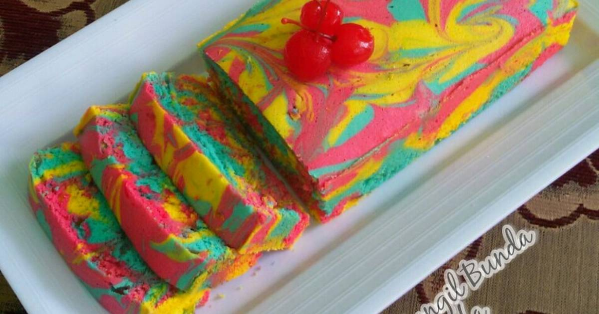 Resep Bolu Air Rainbow