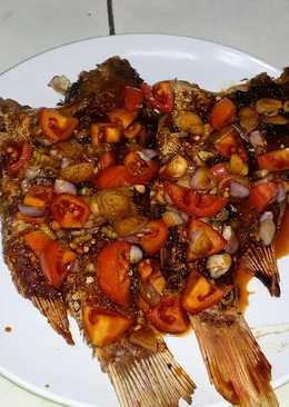 Kakap merah bakar sambal kecap