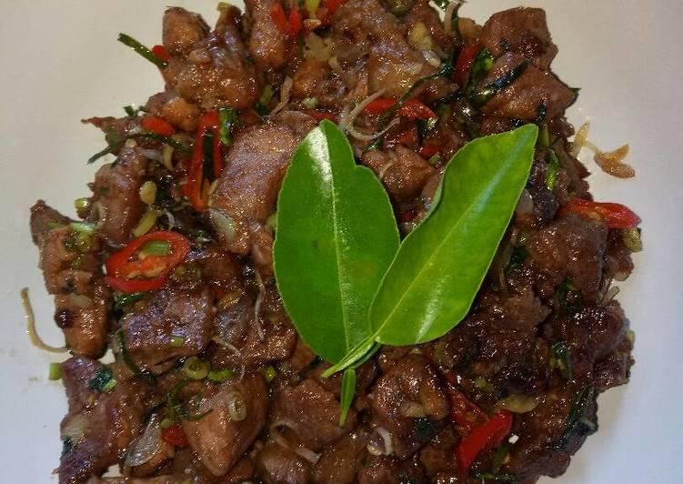resep masakan Babi Goreng Terasi