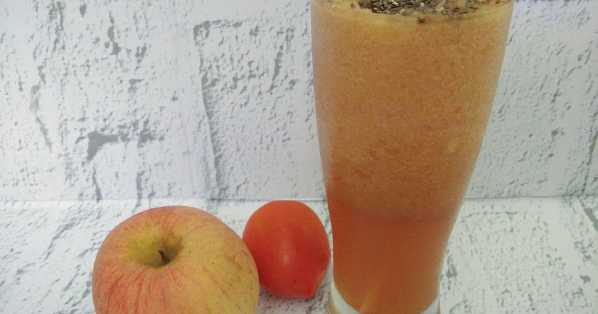 Resep Jus Apel dan tomat