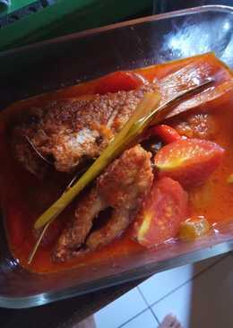 Ikan nila merah kuah asam pedas 😋😋😋