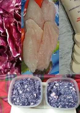 Ikan Kakap Merah + Tofu + Kubis Ungu MPASI