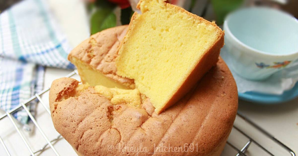 Resep Basic Vanila Sponge Cake No SP Ala Khey (irit Simple