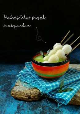 Puding telur puyuh saus pandan