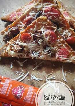 Pizza Roti Gandum with Sosis & Ayam Cincang