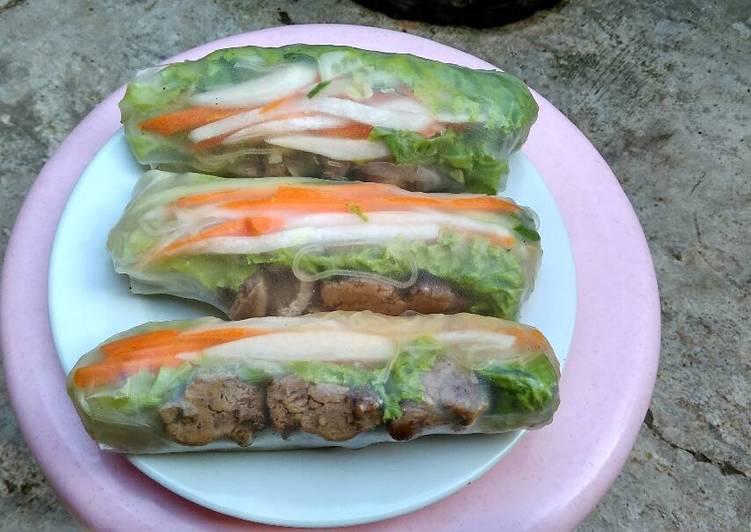 gambar untuk resep makanan Spring roll vietnam