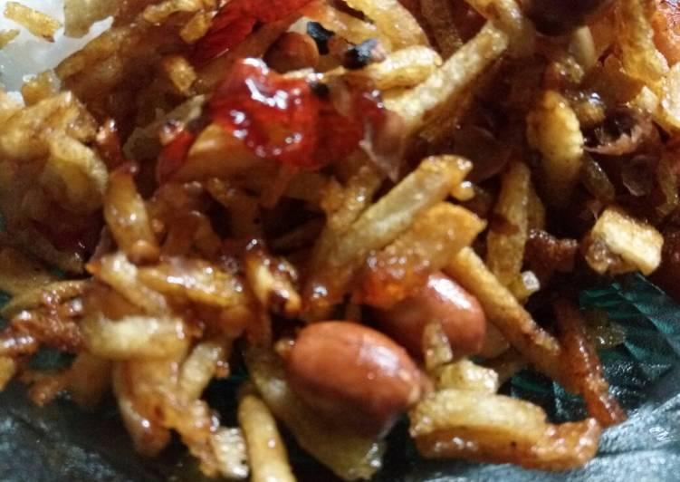 Kering kentang asam manis pedas mantap #BikinRamadanBerkesan