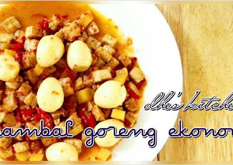Resep Sambal goreng ekonomis(Tahu,tempe,telur,kentang) By dhe's kitchen (Subandhini A.P)