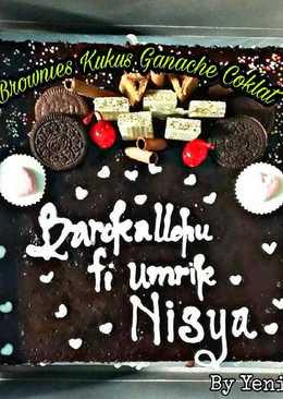 Brownies Kukus siram Ganache Coklat