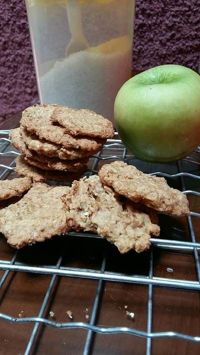 Apple Cinnamon Oat Lactation Cookies (Kue kering untuk Booster A