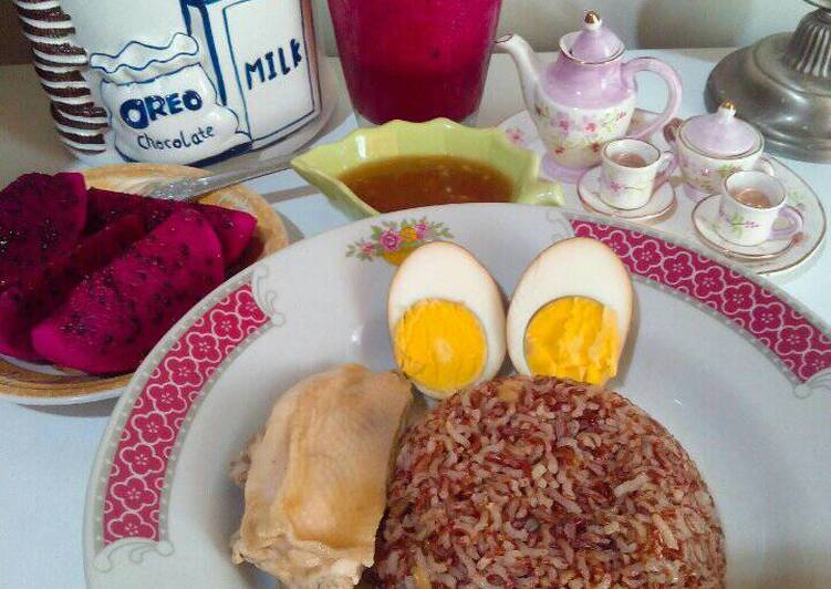 gambar untuk cara membuat GM Diet (Day 7) - Nasi Hainam Merah